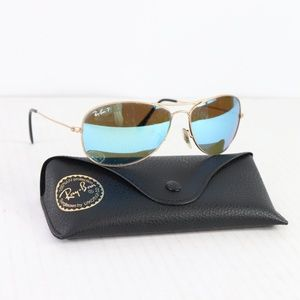 Ray Ban Blue Flash Polarized Aviator Sunglasses